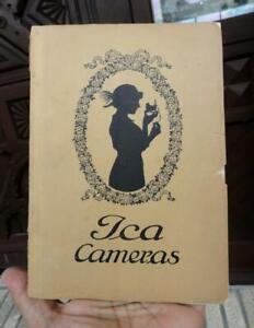 antique German ICA CAMERAS Brochure & Price List ~1924~