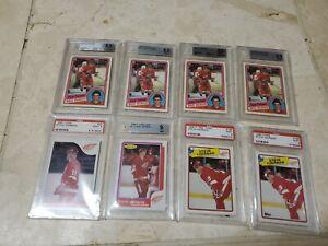 BGS 8.5 Steve Yzerman Rookie 1984-85 OPC O-Pee-Chee #67 HUGE 8 CARD LOT INVEST