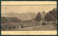 Brescia Casa Editrice Guerra d'Italia Militari PIEGA cartolina QK7223