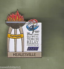 HEALESVILLE   2000 OLYMPIC AMP TORCH RELAY PIN