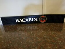 Bacardi Rubber Spill Bar Mat EXCELLENT 23x 3.25x 1/2 inches