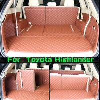 For Toyota Highlander 5 Seats 2014-2016 Trunk Mat Cargo Boot Liner Car Carpet