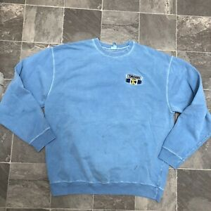 Men's Tomahawk Construction Big Logo Retro Vintage Style Crew Sweatshirt Sz L