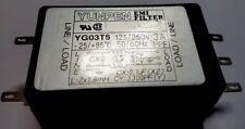 EMI LINE FILTER YG03T5 Yunpen 3A, 125/250V
