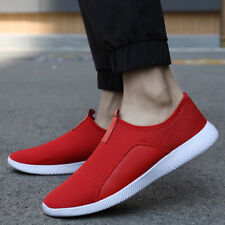 Men's Fashion Running Sneakers Slip-on Lightweight Athletic Walking Tennis Shoes