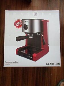 KLARSTEIN Red Passionata Rossa 15 1250W Espresso Coffee Automatic- Cost £250.