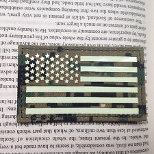 DIGITAL LEFT IR US FLAG Reflect Tactical Army AIRSOFT PATCH/GLOW IN DARK