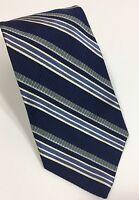 Robert Talbott Silk Tie Best Of Class Blue White Striped $98.50 Business Tie