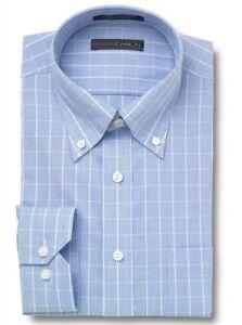 NWT Damon Big and Tall Long Sleeve Ultra Pinpoint Button Down Collar Dress Shirt