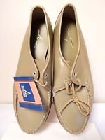 Nos Vintage SPERRY TOP-SIDER Leather Shoes Oxford Sport Moccasin Toe Smoked Elk