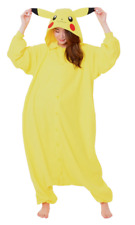 Kigurumi Pikachu Pokemon Costume Pajamas Yellow One Size MINT Retail $70