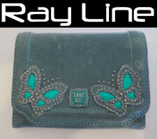 100% authentic ANNA SUI fold wallet green leather {USED}