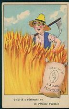art GIL advertising agriculture Fertilizer Potasse d'Alsace c1920s postcard