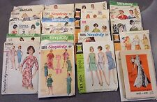 Vintage Sewing Patterns Lot of 21 1960's - Over Half Size 14 Bust 34
