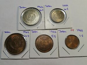 O4 Jordan 1949-1964 5 Coin BU Set