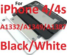 OEM iPhone 4/4S Battery Door Glass Back Cover A1332/A1349/A1387 Black/White