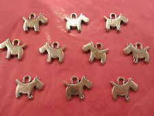 Tibetan Silver Westie/Scottie Dog Charms 10 per pack