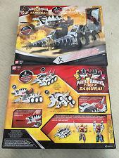 Power rangers Super Samurai Tiger tank megazord + red ranger - Missile fires