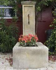 Wandbrunnen mit Wassertrog, Steinbrunnen, Gartenbrunnen, Zierbrunnen,