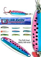 Krocodile Holographic Rainbow Trout Spoon with Blood Red SureSet VMC Siwash Hook