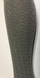 Nwt Mp Denmark Woman cotton gray Knitted pattern tights  soft warm Medium