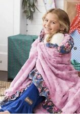 Matilda Jane Wrap Me Up Blanket Throw Floral Pink Blue NEW In Bag Super Soft