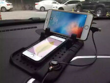Universal Car Holder Dashboard USB Magnetic Charger Stand Silicone Non-slip Pad
