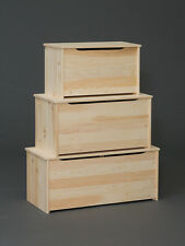 """AMISH ~ Rustic Pine 48"""" UNFINISHED BARNWOOD Plank PINE BLANKET Toy Chest Trunk"""