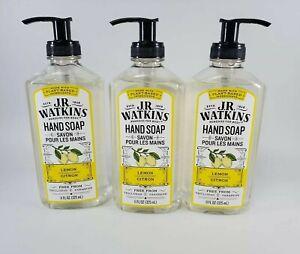 Lot of 3 J.R. Watkins Lemon Citron Foaming Hand Soap Plant Based ll FL OZ 325 ml