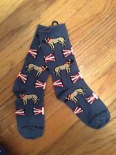 Akc dog breed ladies English Bullmastiff Mastiff Union Jack novelty socks Sale