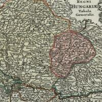 Hungary Transylvania Hungaria Sclavonia 1762 Lobeck Lotter miniature old map