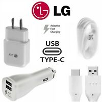 OEM Adaptive Fast Rapid Wall Charger Type-C Cable For LG G5 G6 G7 G8 Stylo 4 V20