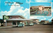 Automobiles Tucumcari Travelodge New Mexico Route 66 Postcard 20-6542