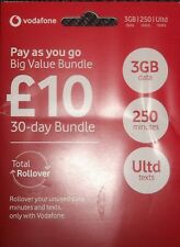 OFFICIAL Vodafone UK Pay As You Go SIM CARD Includes Standard Micro Nano Triple