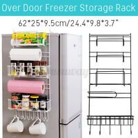 5 Tiers Fridge Hanging Rack Shelf Side Storage Spice Multi-Layer Sidewall Holder
