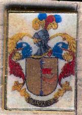 Heraldry PIN metallic del last name : ALVARO