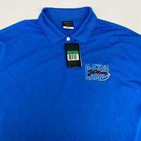 NWT Nike Golf Polo Shirt Men's XL Short Sleeve Blue Dri-Fit Polyester