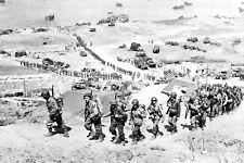 1944 World War 2 Photo-U.S. Army 2nd Infantry Div on Omaha Beach Normandy D+1