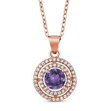 Silver Plated Amethyst Unisex Jewellery