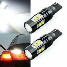2x 50W 921 912 T10 LED 6000K 10SMD White Backup Reverse Light Width Bulb