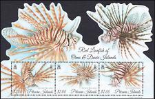 PITCAIRN ISLANDS - 2015 - Miniature Sheet: Red Lionfish. Mint NH