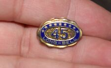 rare Vintage Long Bell Lumber Company 45 Year Service Pin               s9