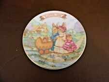 """Avon 1991 Collectible Easter Plate """"Springtime Stroll"""""""