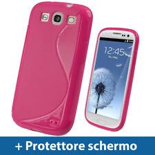 Rosa Custodia TPU Gel per Samsung Galaxy S3 III i9300 Android  Case Cover Rigida