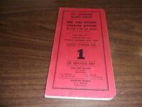 1964 ERIE LACKAWANNA RAILROAD NEW YORK/SCRANTON DIVISION EMPLOYEE TIMETABLE #1