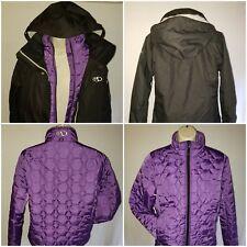 Womens MARKER 3 in 1 SKI JACKET Coat Black Purple Sz 8 - New Without Tags Unworn
