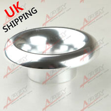 """UNIVERSAL VELOCITY STACK 4"""" RAM AIR INTAKE/TURBO COMPOSITE SILVER FUNNEL UK"""