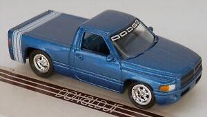 Johnny Lightning 1999 Dodge Ram Pickup Truck Blue w/Tonneau Cover JL 1/64 Scale