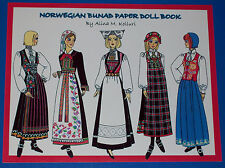Norwegian Bunad Paper Doll Book w/5 Dolls, 25 Bunads!