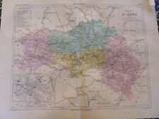 Carte géographique couleur 19°:L'ORNE avec  plan  de ALENCON